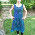 blue felted dress