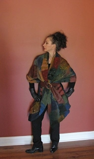 Elynn Bernstein in felted jacket