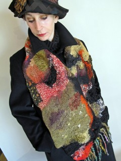 A wide variety of textures in this Nuno Scarf