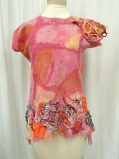 Nuno Felted Pink Top