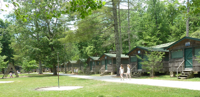 Some of the Cabins the girls live in