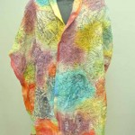 comic shawl bright colors