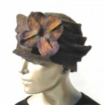gray hat with flower - Version 2