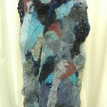 blue gray collage scarf