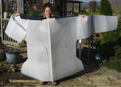 pattern for felting a jacket