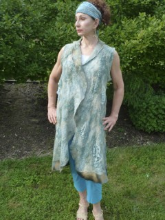 Light Blue Nuno Felted Tunic
