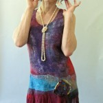 Tank Top Cranberry Flapper Nuno Felted Dress