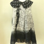 Black and White Print Nuno vest