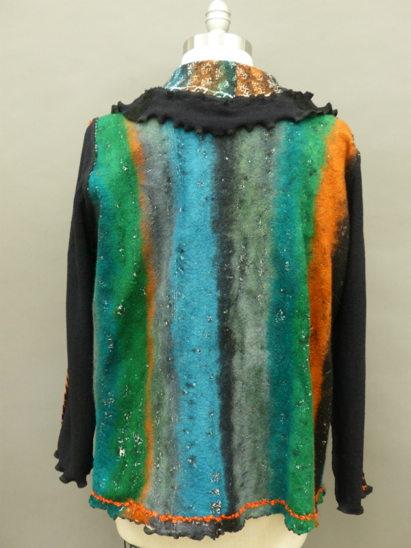 Wet Felted Jacket made from a sari