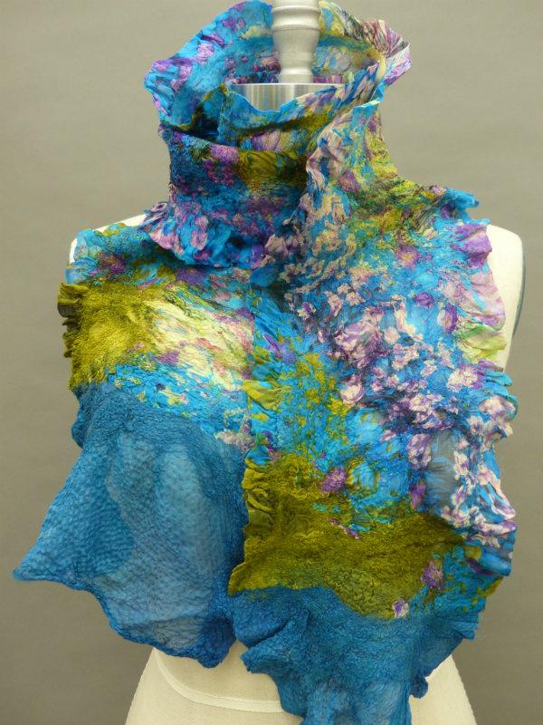 printed silk nuno floral scarf