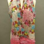 Summery floral nuno felted scarf