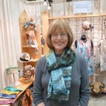 Corrine and her nuno felted scarf