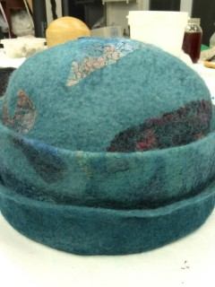Learning to make a felt hat