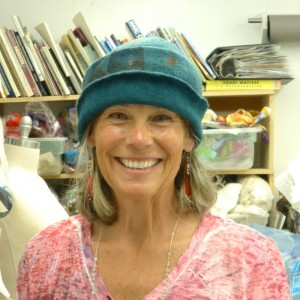 wet felting -making a hat