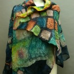 nuno felted reversible shawl