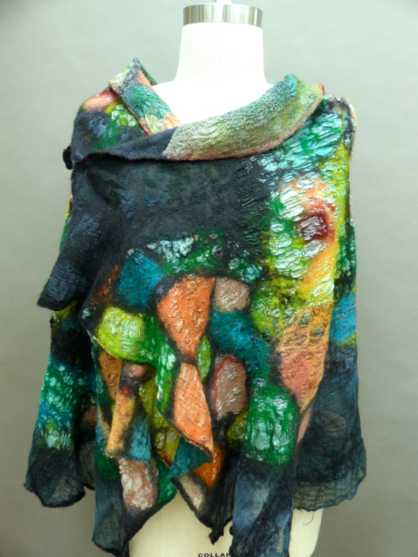nuno felted seamless shawl