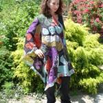black abstract shawl