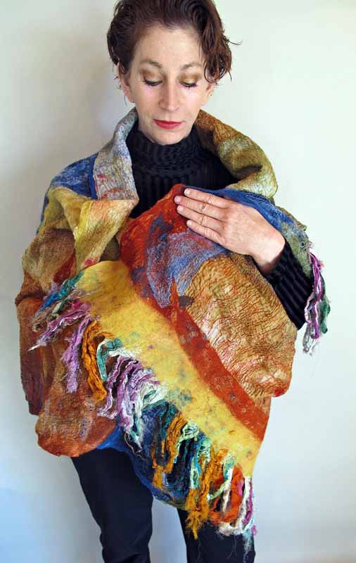 monoprint shawl