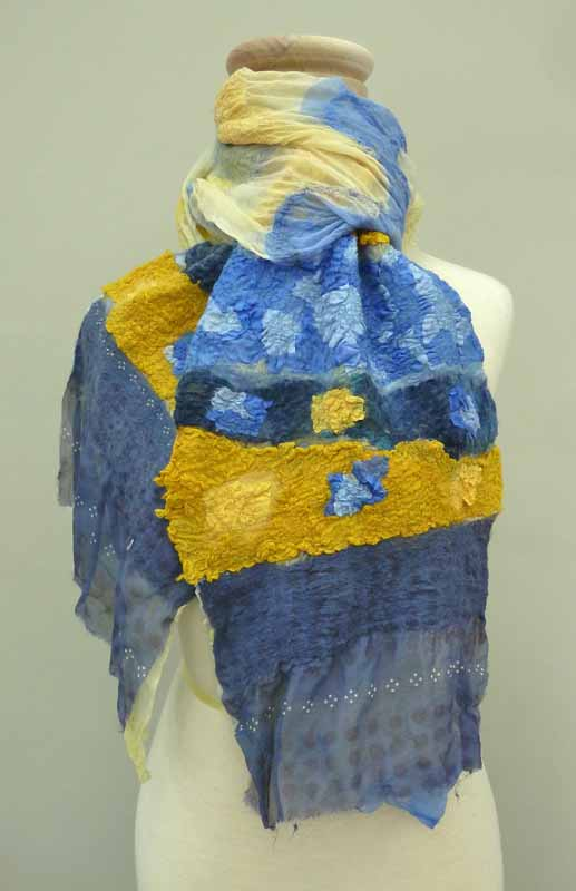 blue and yellow hi tex scarf