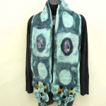 blue circles scarf