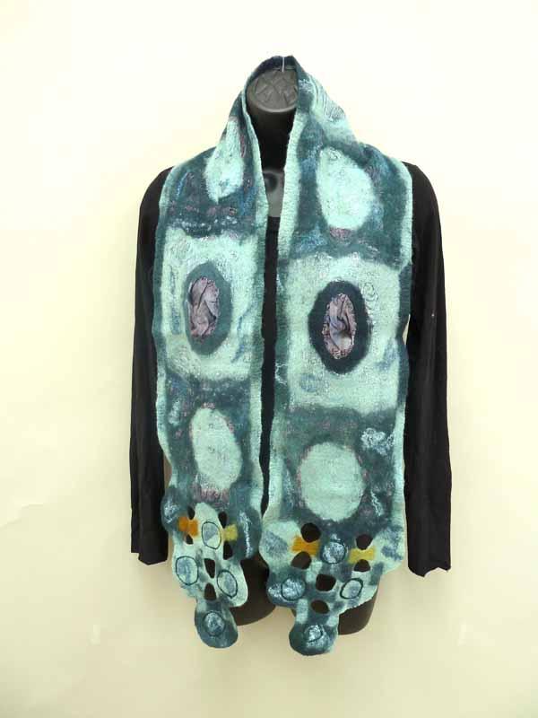 blue circles scarf