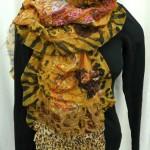 ruffle tiger scarf