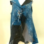 All Wool Black/Blue/Grey Felted Vest
