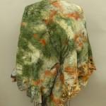 camouflage Nuno felted reversible poncho