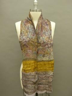 Mauve.Gold Nuno Felted Ruffle scarf