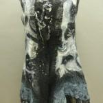Black/White Print Nuno felted vest